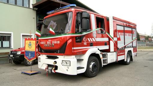 nuova autopompa vigili del fuoco di Rivalta