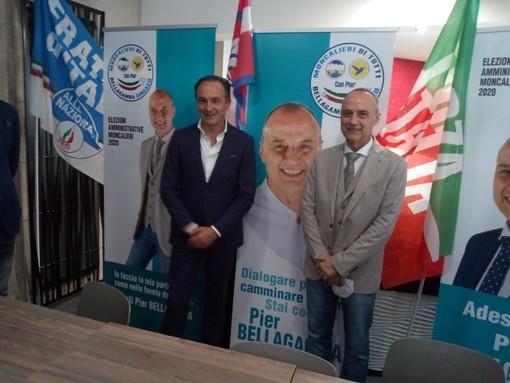 """Moncalieri, Cirio a fianco del candidato sindaco del centrodestra Bellagamba: """"Anche qui serve un'altra velocità"""" (FOTO e VIDEO)"""