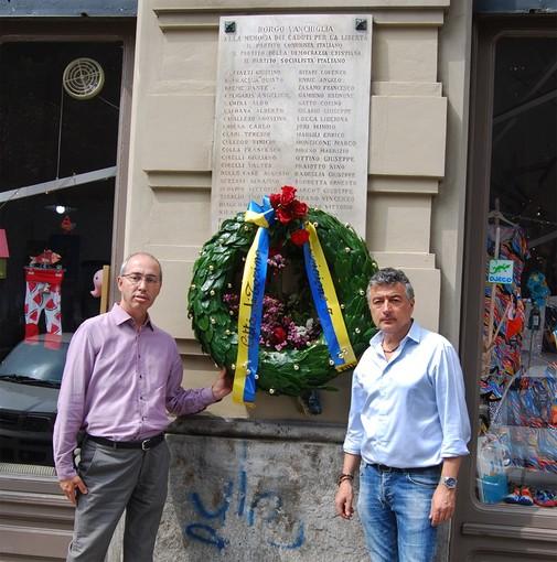 Vanchiglia, torna la corona ai caduti della Resistenza in Largo Montebello