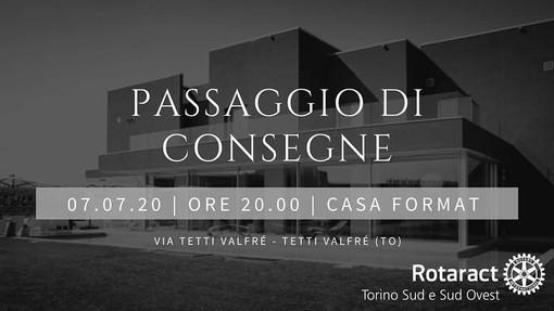 Martedì a Casa Format si terrà il passaggio di consegne del Rotaract Torino Sud e Sud Ovest