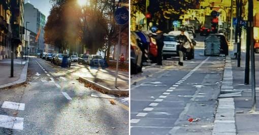 """Corso Novara, la pista ciclabile a 'zig-zag' non convince Petrarulo: """"Si fermino immediatamente i lavori"""""""
