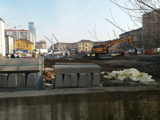 cantiere piazza Bengasi