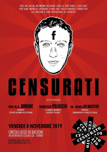 Censura sui social, CasaPound organizza una conferenza all'Asso di Bastoni