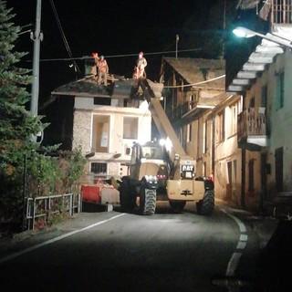 """Lavori in notturna sulla Sp 1 """"della Valli di Lanzo"""" a Ceres, in frazione Voragno"""