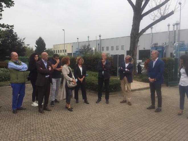 Damilano in visita allo stabilimento Bus Company di Torino