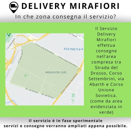 Nasce Delivery Mirafiori, la consegna a domicilio che unisce i commercianti di quartiere