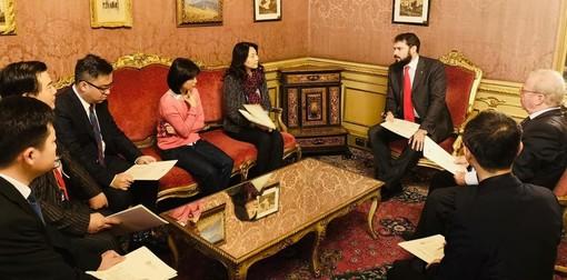 Delegazione cinese ricevuta dal Consiglio Regionale del Piemonte e all'Unione Industriale