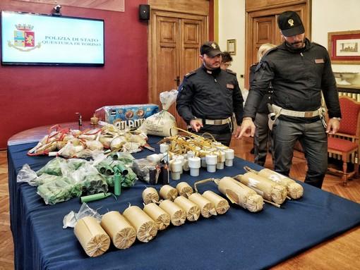 Maxi sequestro di botti di Capodanno: 2 arresti a Torino
