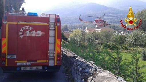Cade in un canale a Bussoleno, ma riesce a chiamare i soccorsi: salvato dall'elisoccorso