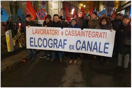 Prosegue la mobilitazione dei dipendenti della Elcograf di Borgaro