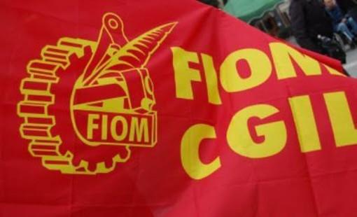 bandiera rossa della Fiom Cgil