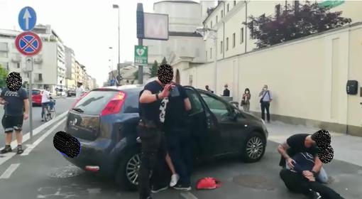 Fermo immagine video arresto