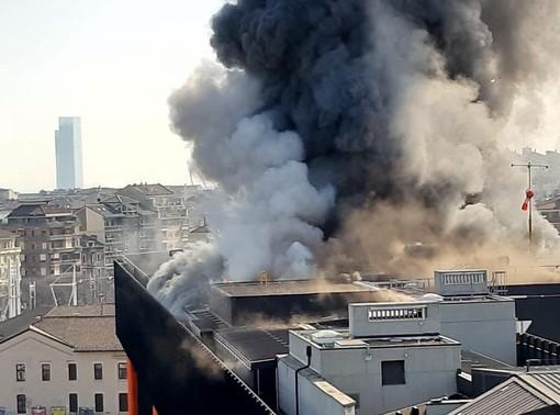 incendio in corso Ferrucci