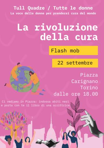 """Stasera in piazza Carignano il flash mob """"La rivoluzione della cura"""""""