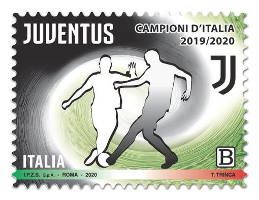 Da oggi in circolazione il francobollo celebrativo dell'ultimo scudetto della Juve