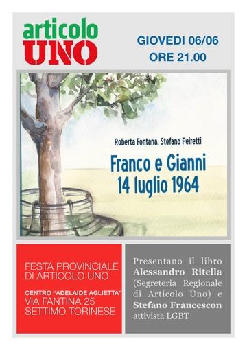 Settimo Torinese, una serata per raccontare l'amore tra Franco e Gianni