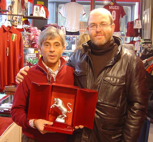 Carlo Testa con Massimo Gramellini, foto tratta dal sito www.carlotesta.it