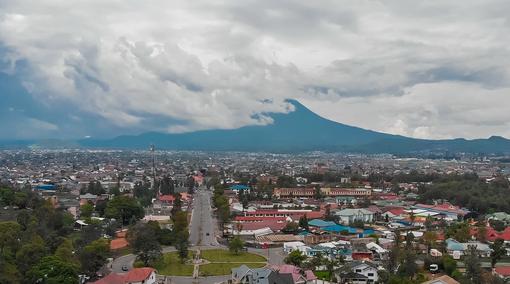 panorma di Goma (Congo)