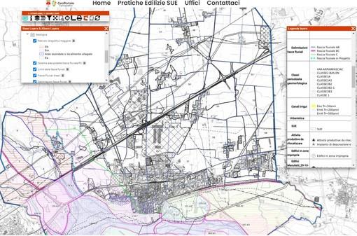 Una delle mappe del Geoportale