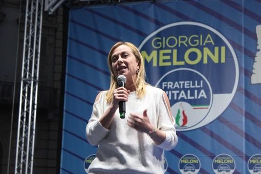 comizio Giorgia Meloni per Damilano