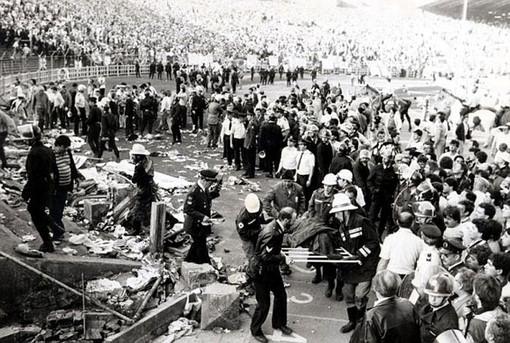 foto di repertorio della tragedia dell'Heysel