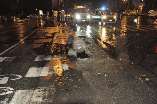 Torino: ubriaco al volante, da solo distrugge in un incidente un mezzo per il trasporto malati