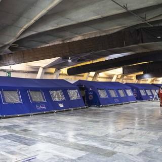Torino Esposizioni - L'interno dell'ospedale del Valentino