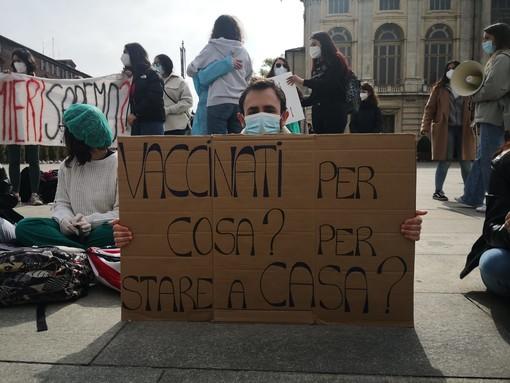 La protesta degli infermieri