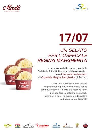 Un gelato per aiutare i piccoli pazienti l'ospedale Regina Margherita