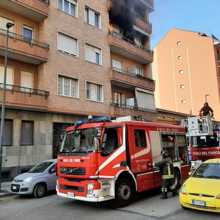 Incendio in via Colautti