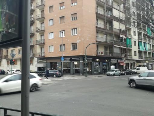Incrocio tra via Gorizia e corso Sebastopoli