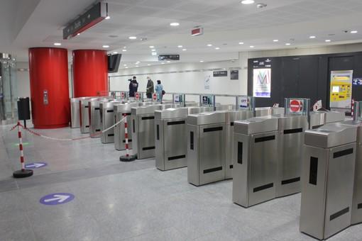 La stazione Bengasi della metropolitana, questa mattina senza passeggeri
