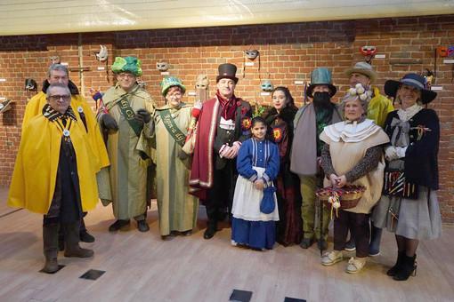 I personaggi del Carnevale di Settimo che sono intervenuti durante il servizio del Tg3 regionale