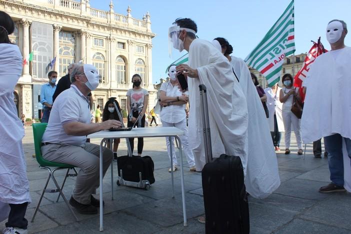 Protesta insegnanti a Torino