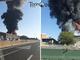 Incendio a Settimo Torinese, fiamme altissime: la colonna di fumo visibile da chilometri [FOTO]