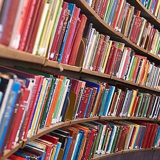 Biblioteca - immagine d'archivio