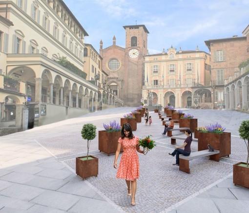 come diventerà la nuova piazza Vittorio Emanuele a Moncalieri