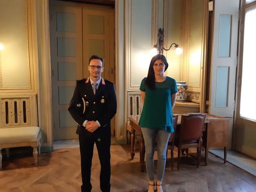 Chiara Appendino incontra Massimo Linarello,  primo comandante del Corpo di Polizia Metropolitana