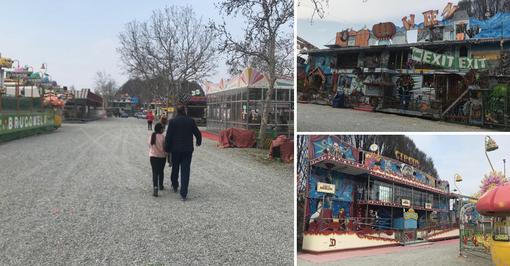 """""""Chiuso per Coronavirus"""": giostre ferme e desolazione al Luna Park della Pellerina [VIDEO e FOTO]"""