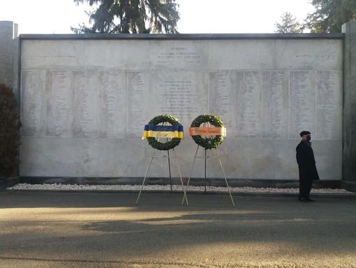 Lapide con nomi delle vittime dell'olocausto