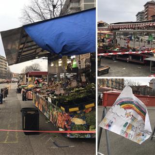 """Coronavirus, il mercato di corso Brunelleschi """"riparte"""": tra cassette e nastri, il lento ritorno alla normalità [FOTO e VIDEO]"""