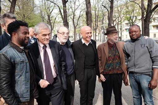 L'ex ministro dell'Interno Marco Minniti in visita ad Aurora