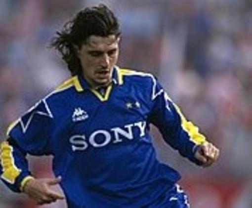 Michele Padovano in maglia Juve