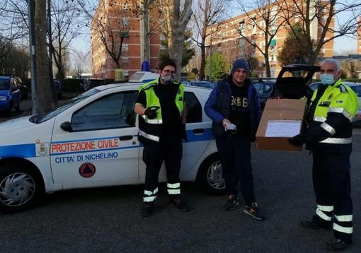350 mascherine destinate alla Protezione Civile di Nichelino dal locale Inter Club