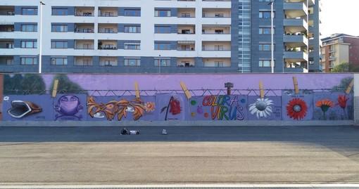 """""""Noi writers da sempre a distanza con mascherina e guanti"""": e dal Coronavirus nasce un nuovo murale"""