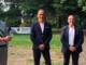 Alberto Cirio con il sindaco di Moncrivello Massimo Pissinis ed il vice sindaco Luca Lisco