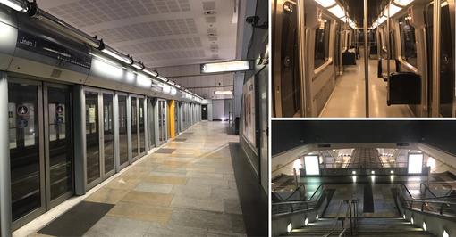 Torino, metropolitana deserta per Coronavirus: in città corse ridotte e linee sospese [VIDEO]
