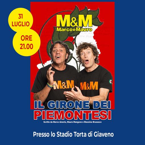Sabato in scena a Giaveno il duo comico piemontese Marco & Mauro