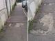 """Via Foglizzo, il marciapiede è una groviera: """"Pericolo per centinaia di residenti"""""""