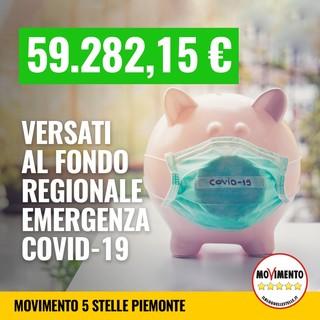 """Movimento 5 Stelle: """"La prima restituzione in questa legislatura è destinata al fondo regionale per il Covid-19"""""""